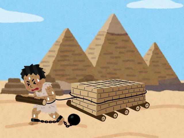 ピラミッドの建設とベアリングの歴史